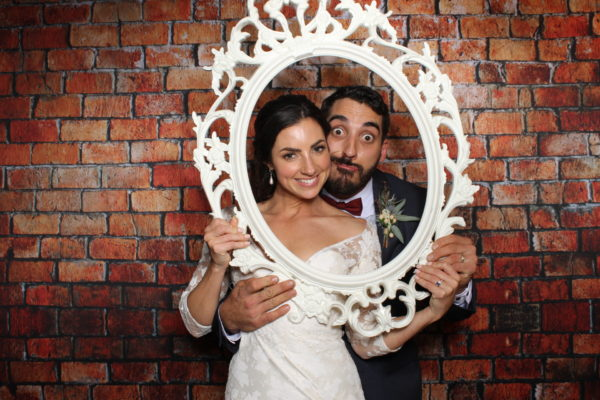 ornate photo booth frame